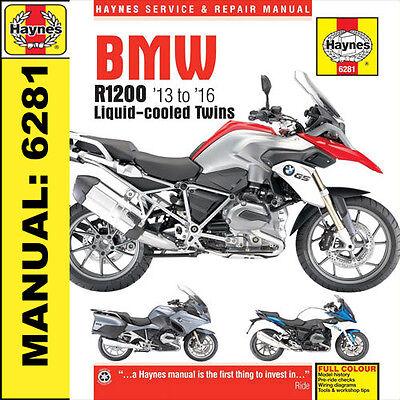 BMW R1200 dohc liquid-cooled Twins 2013 to 2016 Haynes Manual 6281 FREEPOST UK