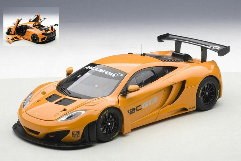 McLaren 12c gt3 presentation car Orange 1 18 MODEL AUTOart
