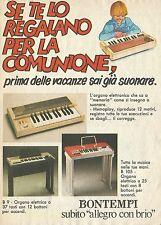 X2243 Organo elettrico BONTEMPI - Pubblicità 1983 - Advertising