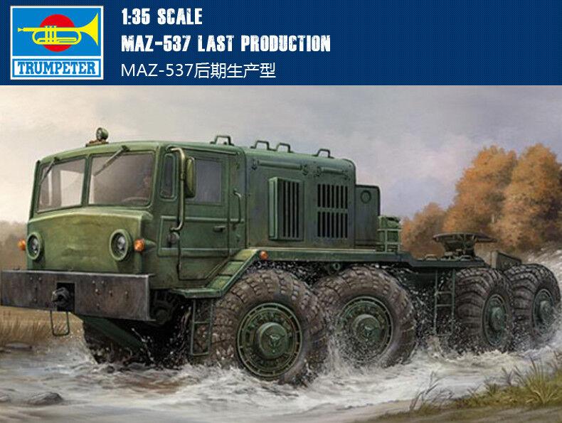 MAZ-537 LAST PRODUCTION 1 35 tank Trumpeter model kit 01006