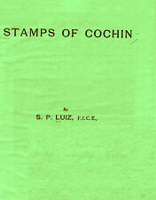 INDIA. Stamps of Cochin by  S. P. Luiz.