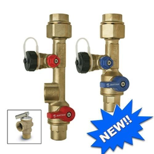 "matsui 3/4"" heater isolation valve kit for tankless water for sale"