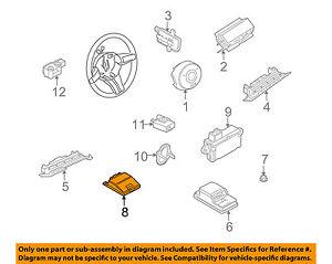 bmw oem 03 05 z4 airbag air bag srs side impact sensor 65776974366 rh ebay com BMW Z40i Wiring Diagram 1993 2012 BMW Z4 Wiring-Diagram