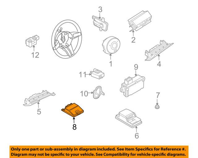bmw oem 03 05 z4 supplemental restraint system side sensor rh ebay com 2012 BMW Z4 Wiring-Diagram BMW E46 Stereo Wiring Diagram