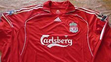 NEW LIVERPOOL STEVEN GERRARD SOCCER AUTHENTIC LS JERSEY SHIRT MAILLOT XL