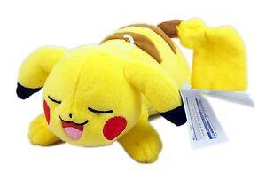 TOMY-Pokemon-Plush-Pikachu-Sleeping-8-inch-new