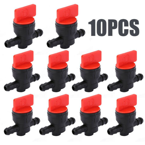 10x Plastic 1//4 In-Line Straight Fuel Gas Cut Shut Off Valves For Lawn Mower