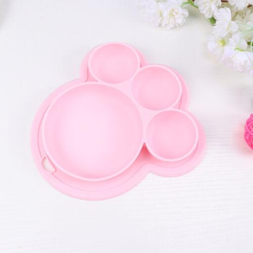 Bärentatze Form Baby Silikon Saugplatte Kinder Teller für Kleinkinder BPA-frei