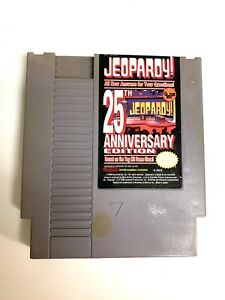 Jeopardy! 25th Anniversary ORIGINAL NINTENDO NES GAME Tested + WORKING!