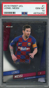 Lionel Messi Barcelona 2019 Topps Finest Soccer Card #1 Graded PSA 10 GEM MINT