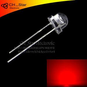 100pcs-Transparente-5mm-Rojo-Sombrero-de-Paja-LED-granangular-diodos-emisores-de-luz