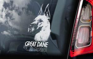 Gran-Danes-a-Bordo-Coche-Ventana-Pegatina-Aleman-Mastiff-Perro-Signo-V04