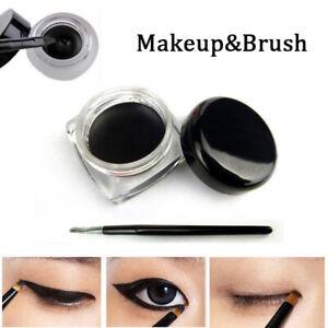 High-Black-Makeup-amp-Brush-Color-Cosmetic-Waterproof-Eye-Liner-Eyeliner-Shadow-Gel