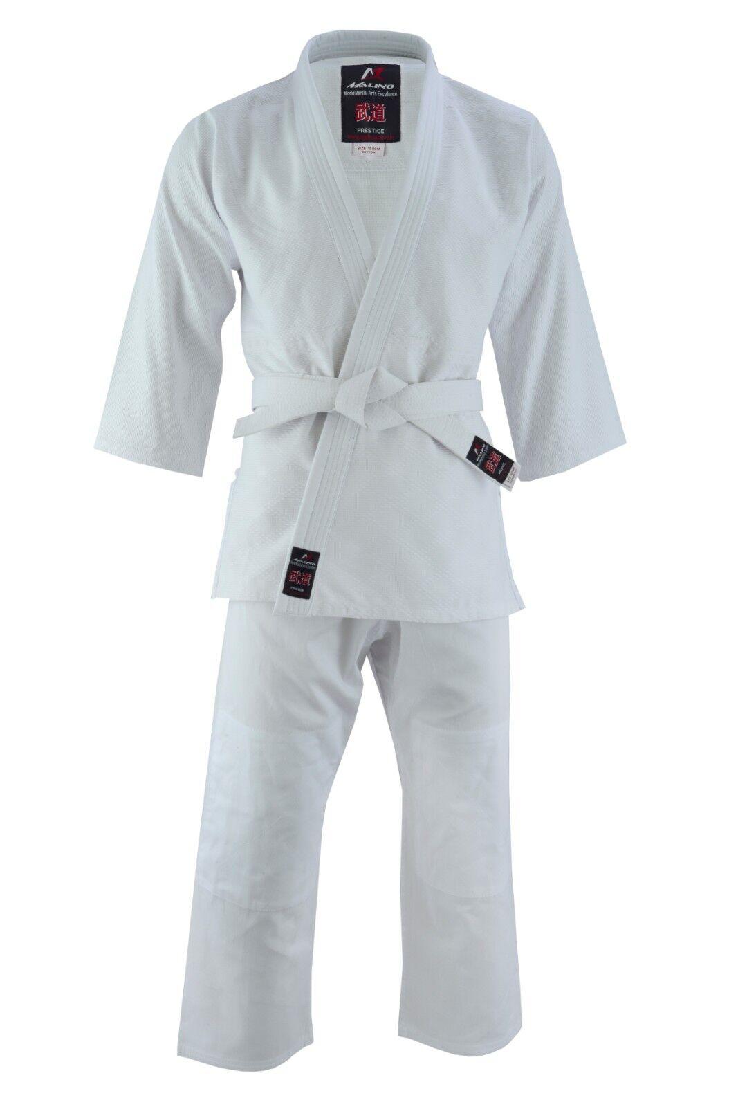 Details about Malino Judo Gi Kids Student Suit Adult Uniform Men All Sizes  Cotton 450gsm White