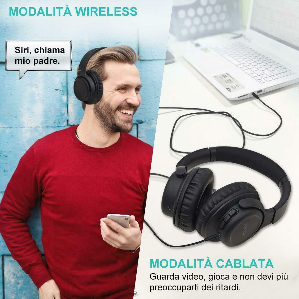 Dettagli su YAMAY Cuffie Bluetooth 5.0 Senza Fili con Microfono Cuffiette Wireless Over Ear