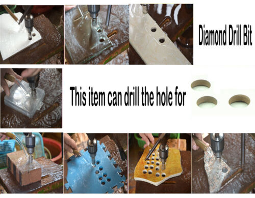 10Pcs 3-38mm Diamond Drill Bits Set Hole Saw Cutter Tool Glass Marble Granite