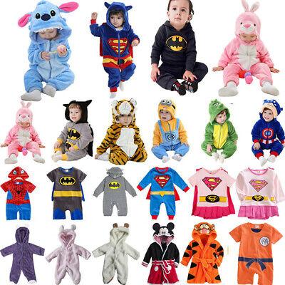 Kinder Baby Junge Kapuze Strampler Body Overall Langarm Batman Kostüm Kleidung