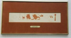 Signed T. NEEDLE Ronald Rich Egyptian Hieroglyphics NAME MEANING ART - Florida