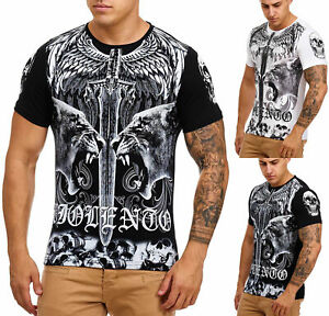 Uomo-T-Shirt-Camicia-Polo-Manica-Corta-Teschio-Printshirt-3265-John-Kayna