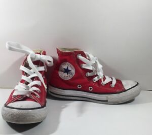 dcd3e0a4f53117 CONVERSE ALL STAR YOUTH RED HIGH TOP SHOES SNEAKERS UNISEX KIDS SIZE ...