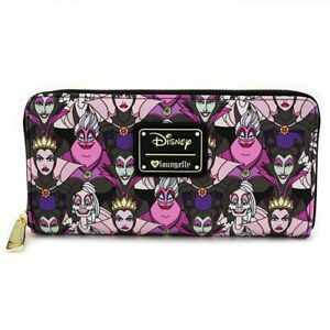 85ded59731a Image is loading LOUNGEFLY-DISNEY-Ziparound-Wallet-MALEFICENT-URSULA-EVIL- QUEEN-