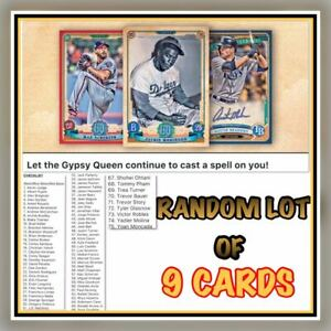 Details About 2019 Gypsy Queen Green Base Random Set Of 9 Cards Topps Bunt Digital