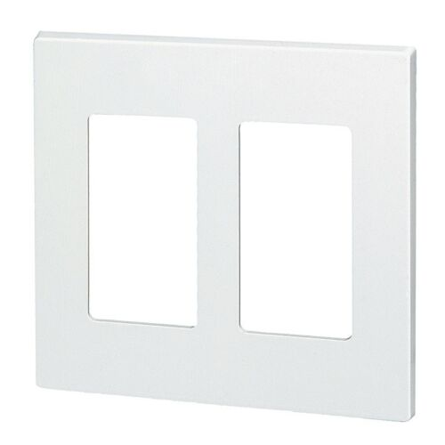 NEW 2-Gang Screwless Wall plate Two Decorator GFCI White Decorative Wallplate