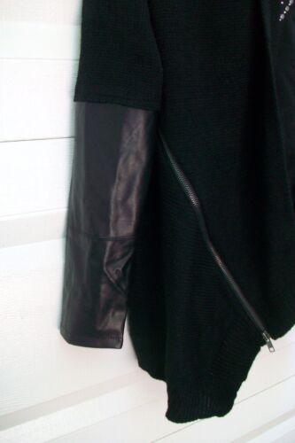 Elan Petite Très détail Pull cuir et fermeture à taille glissière Faux de sympa dwzxzIFP