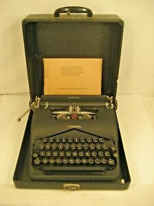 VINTAGE LC SMITH CORONA STANDARD TYPEWRITER FLOATING SHIFT WITH PAPERS 1940