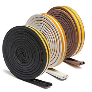 Rubber-Sealing-Strip-Universal-Weather-Foam-Sponge-EPDM-Tape-5M-Door-Window