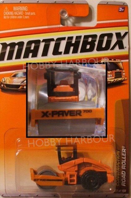 MATCHBOX #37 Road Roller - ORANGE, 2010 issue (NEW in BLISTER)