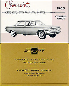 1966 Chevy Corvair Convertible Owners Manual Set Car Guide Top ...