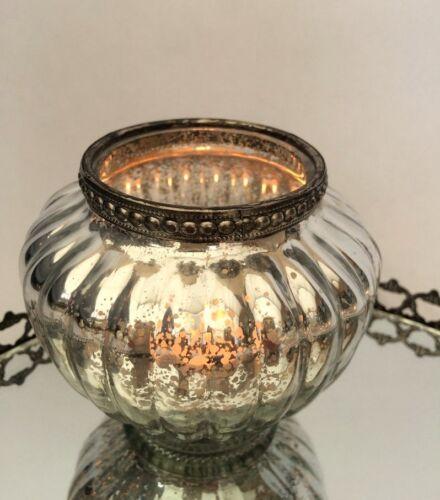 Antiker Stil Glas Birne Form Teelicht Kerzenständer Hochzeit Dekoration
