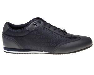 innovative design 1f18a f5870 Dettagli su Hugo Boss ACCENDINO LowP LOGO 50397587 401 Sneaker Uomo Scarpe  da ginnastica blu scuro- mostra il titolo originale