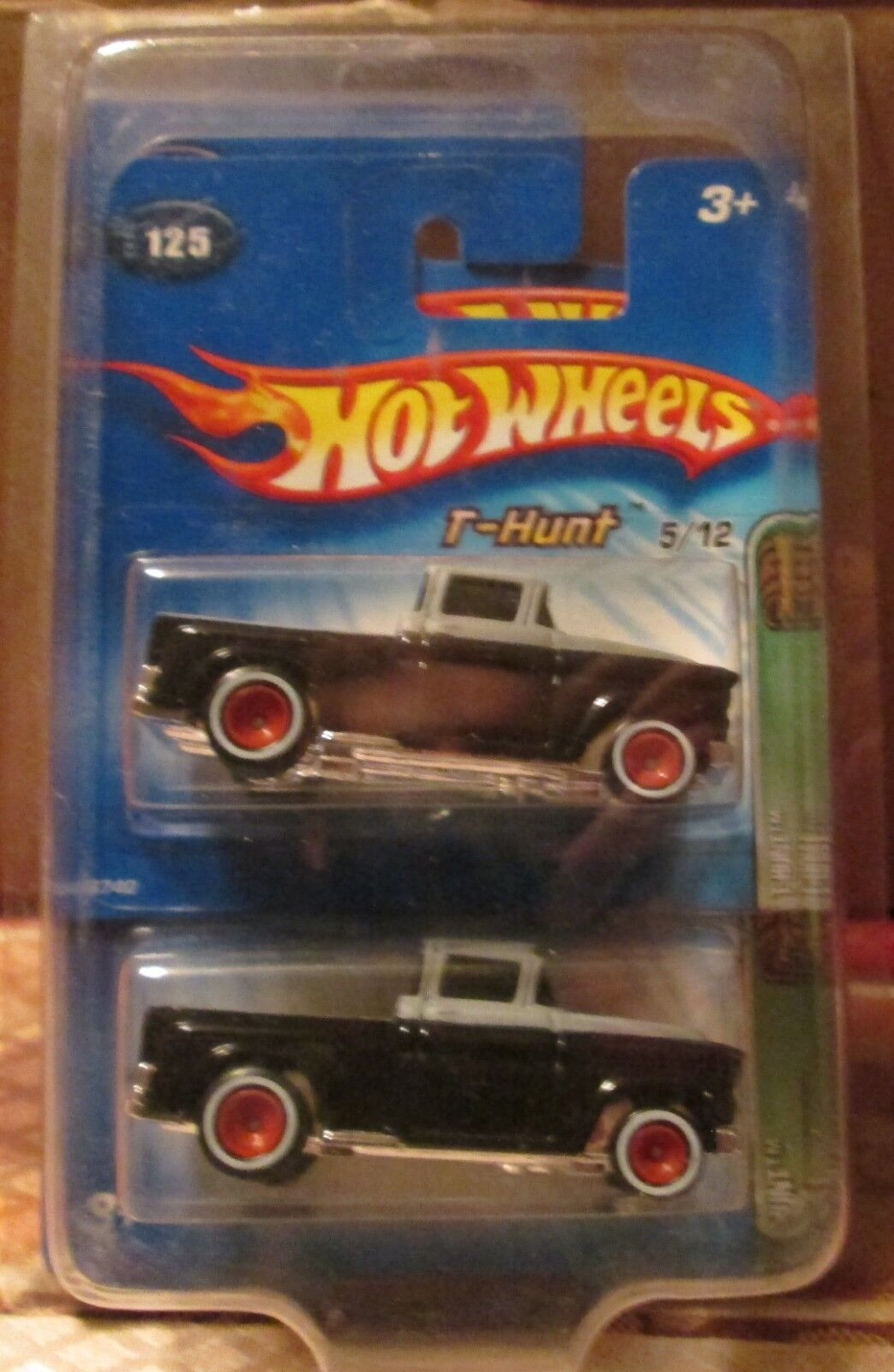 2005 Hot Wheels Treasure Hunt 10th Anniversary '56 Flashsider Long & Short Cards