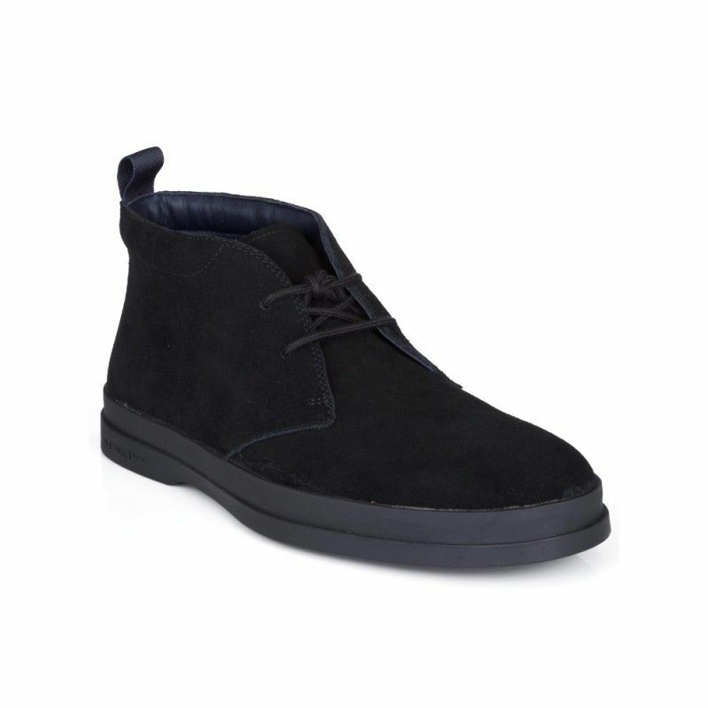 NW PAUL SMITH suede leather Inkie S256 SSU ankle Boot Black Suede Chukka Boots