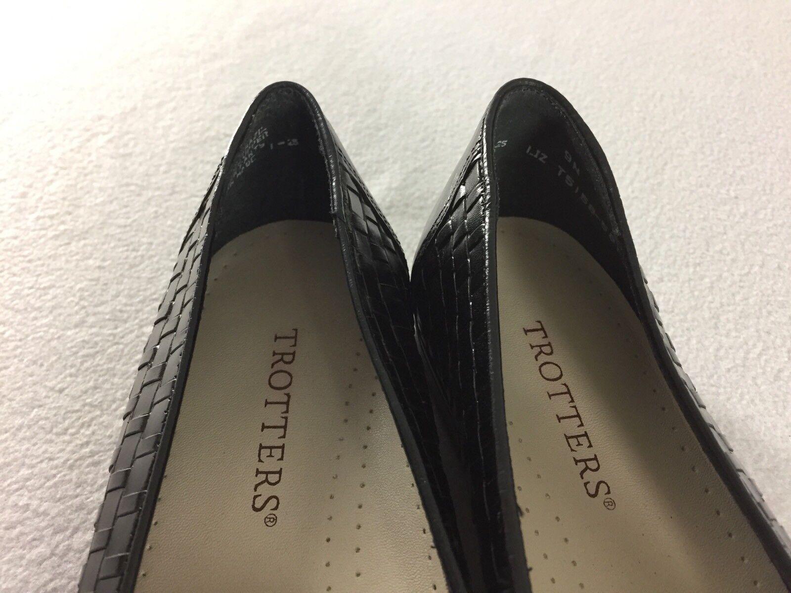 mocassins pieds noirs feuillet feuillet noirs en cuir tressé de liz confort occasionnels taille 9 n 8a711c