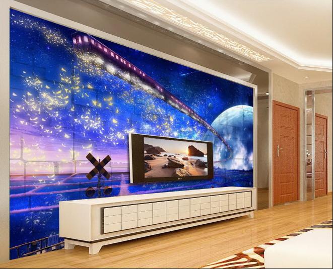 3D Stern Mond Galaxie 8995 Tapete Wandgemälde Tapeten Bild Familie DE Summer