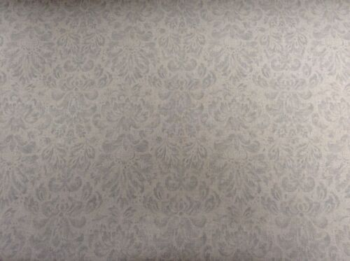 "Vintage Linen Petite Damask  Grey 140cm//54/"" Curtain//Craft Fabric"