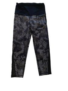Small Mono B Workout Women S Capri Leggings Back Zip Pocket Black Gray 20 Insea Ebay