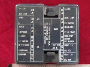 datsun 280zx fuse box cover for ato atc pin type fuse boxes ebay rh ebay com types of fuse boxes uk types of domestic fuse box