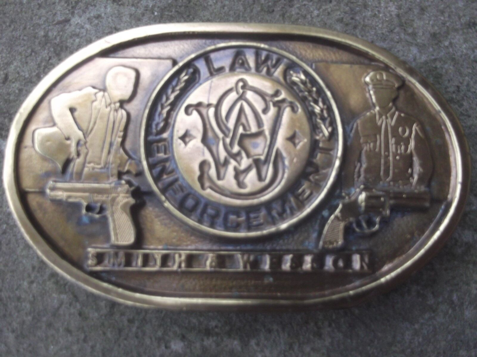 Smith and Wesson Law Enforcement Vintage Belt Buckle