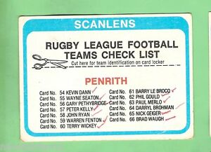 1979-PENRITH-PANTHERS-SCANLENS-RUGBY-LEAGUE-CHECKLIST-CARD-MARKED