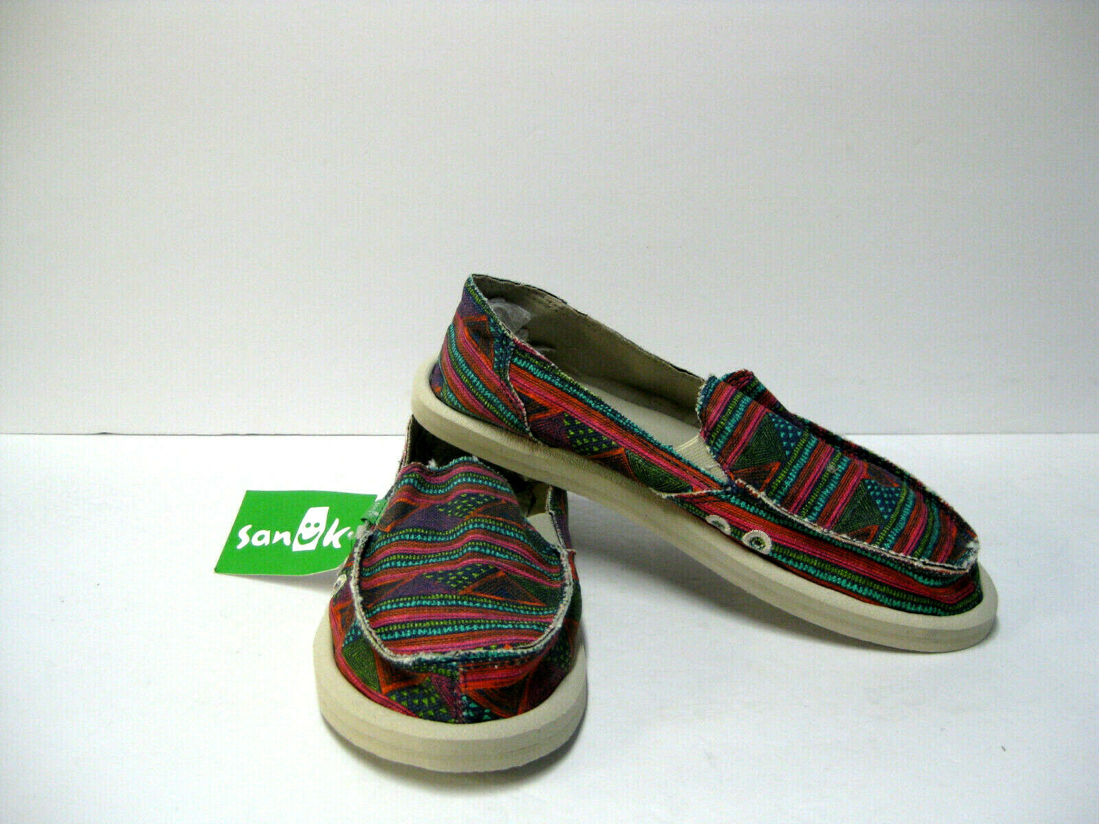 best service e0e3a ae81b SANUK women GEO WOMEN SHOES MULTI GEO STRIPES US 7 UK 5 EU 38  nrhcdw3652-Women s Comfort Shoes