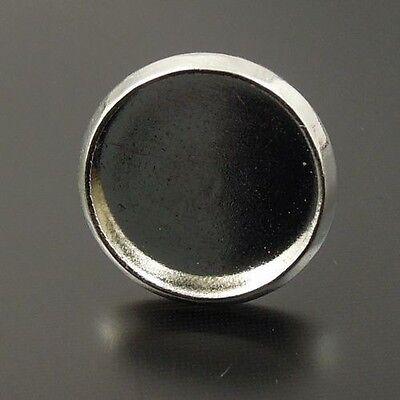 50pcs White K Iron Earring Stud Setting Tray Pendants Crafts Decoration Findings