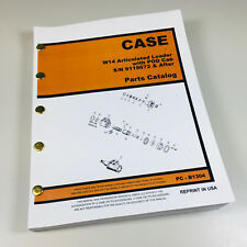 J I Case W14 Articulated Loader Parts Manual Catalog Exploded View Sn 9119672