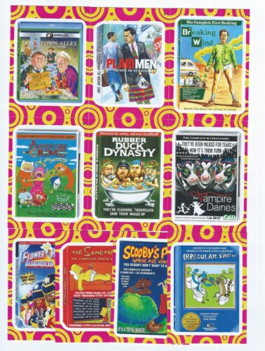 2014 Topps WACKY PACKAGES  Series 1 TERRIBLE TV Insert Set 10 Cards
