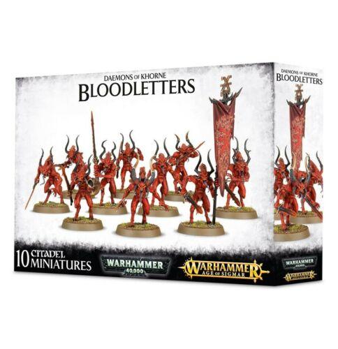 Daemons Of Khorne Bloodletters Games Workshop Warhammer 40k Age Of Sigmar New