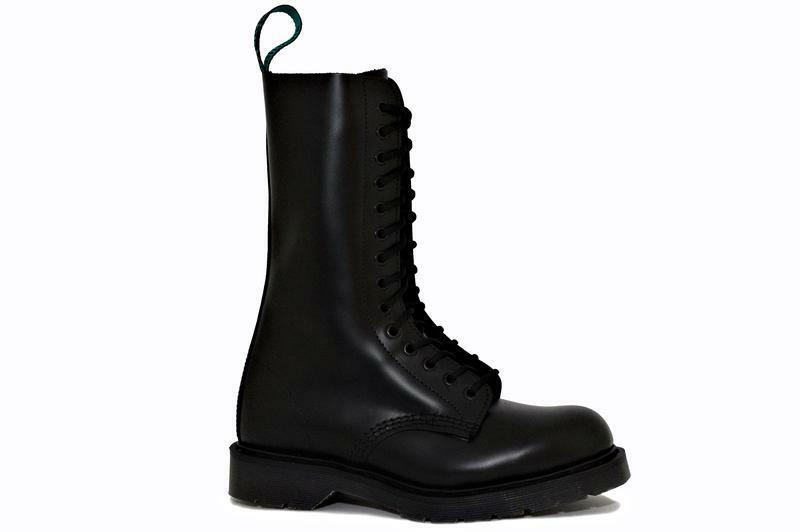 Solovair NPS shoes Made in England 14 14 14 Eye Black Boot S080-S14BBK 05bb22