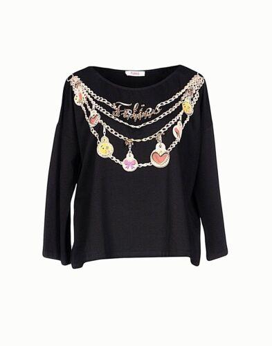 T 40 Donna shirt Tg Folies Blugirl Maglia Top I202 O8dwvO